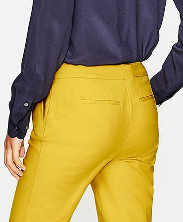 yellow classic trousers